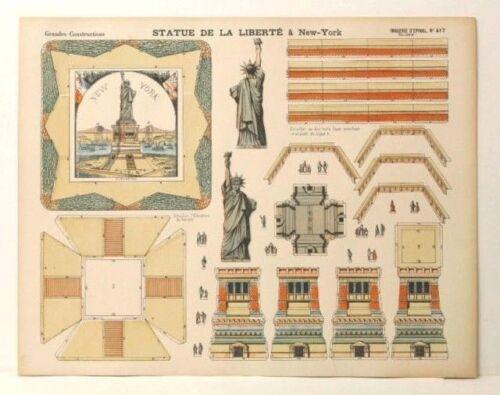 Imagerie D'Epinal No 417 Statue de la Liberté//Grandes Constructions paper model