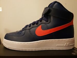 tout neuf e883c 16976 Details about NIKE AIR FORCE 1 HIGH ID - BLUE / ORANGE / WHITE : EU 42.5 :  UK 8