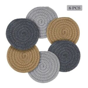 6 Pcs Coasters For Drinks Absorbent Handmade Braided Coaster Set 4 3 Inch B L5h7 Ebay