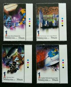 SJ-1-Malaysia-Collection-2010-Rocket-Earth-Space-Satellite-stamp-color-MNH