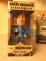 Norman Reedus Signed AMC Walking Dead Daryl Dixon Bobblehead w/ inscription