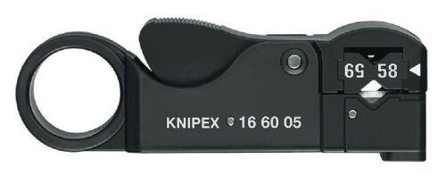 Knipex Koax-Abisolierwerkzeug 16 60 05 SB Abisolier-// Abmantelungswerkzeug