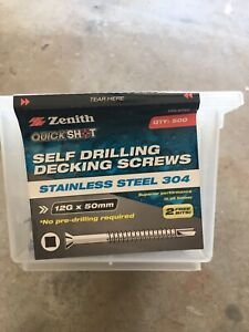 Decking-screws-stainless-steel-12g-x50mm-new-in-boxes-with-bonus-bit