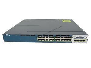 Cisco-WS-C3560X-24P-E-24-Port-IP-Services-PoE-Switch-w-C3KX-NM-1G-amp-AC-Power