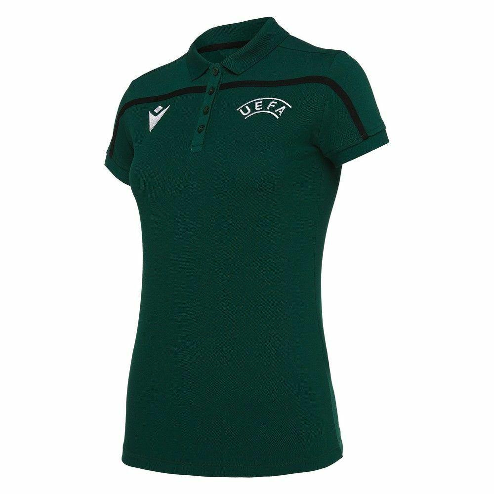 Macron Fútbol UEFA árbitro 19 para mujeres Damas Mangas Cortas  Camisa Polo Ss Top  producto de calidad