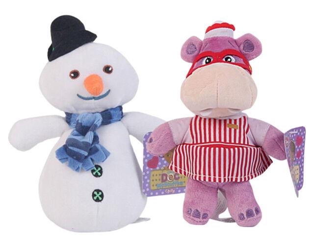 Disney Hallie Hippo Chilly Snowman Plush Doll Hammy Pig Stuffed Toys Christmas
