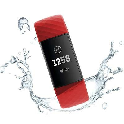 """7.1/"""" Pink Silicone Sport Band for Fitbit Charge 3 and Charge 3 SE Small 5.5/"""""""
