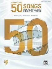 Alfred's Top 50 Songs From Warner Bros Film Collection Piano Vocal Guitar Book