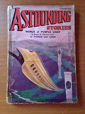 ASTOUNDING STORIES December 1936 ORIGINAL PULP Science Fiction Fantascienza
