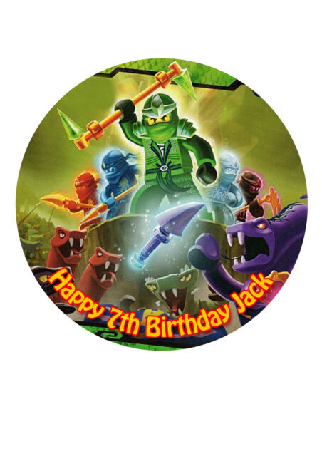 Prime Ninjago Birthday Cake Edible Topper Decoration Icing Sugar 7 5 Birthday Cards Printable Opercafe Filternl