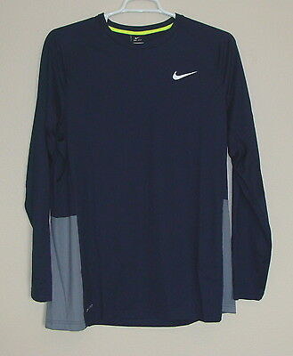 NWT Nike Dri-Fit Crossover Basketball Long Sleeve Shirt L XL 2XL Dark Obsidian