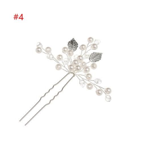 Wedding Crystal Pearl Hair Pin  Bridal Clips Bridesmaid Tiara Hairpins