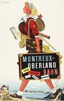 Vintage Swiss Ice Hockey Poster  A3//A2 Print