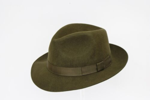 High Quality Hand Made Gents Fedora Felt Trilby Hat With Matching Band 100/% Wool