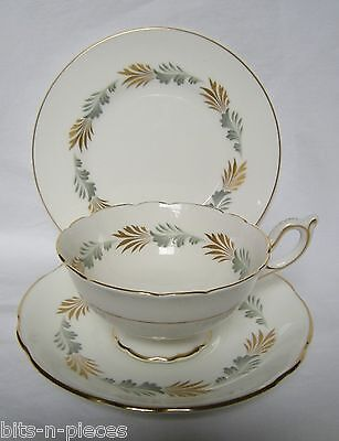 Coalport England SONNET English China TRIO plate cup saucer gold rims