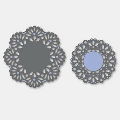 Couture Creations Lace Cutting Embossing 2 Die CAMEO SET 75mm, 55mm CO7232456 *