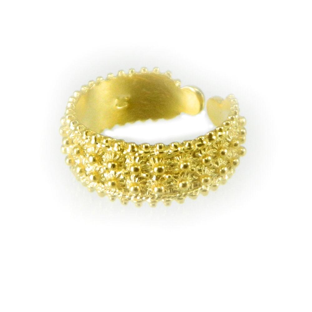 Fede sarda silver anello sardo filigrana sarda dorata doppio giro gambo aperto