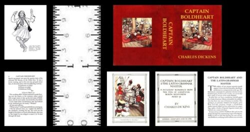 1:12 SCALE MINIATURE BOOK CAPTAIN BOLDHEART CHARLES DICKENS
