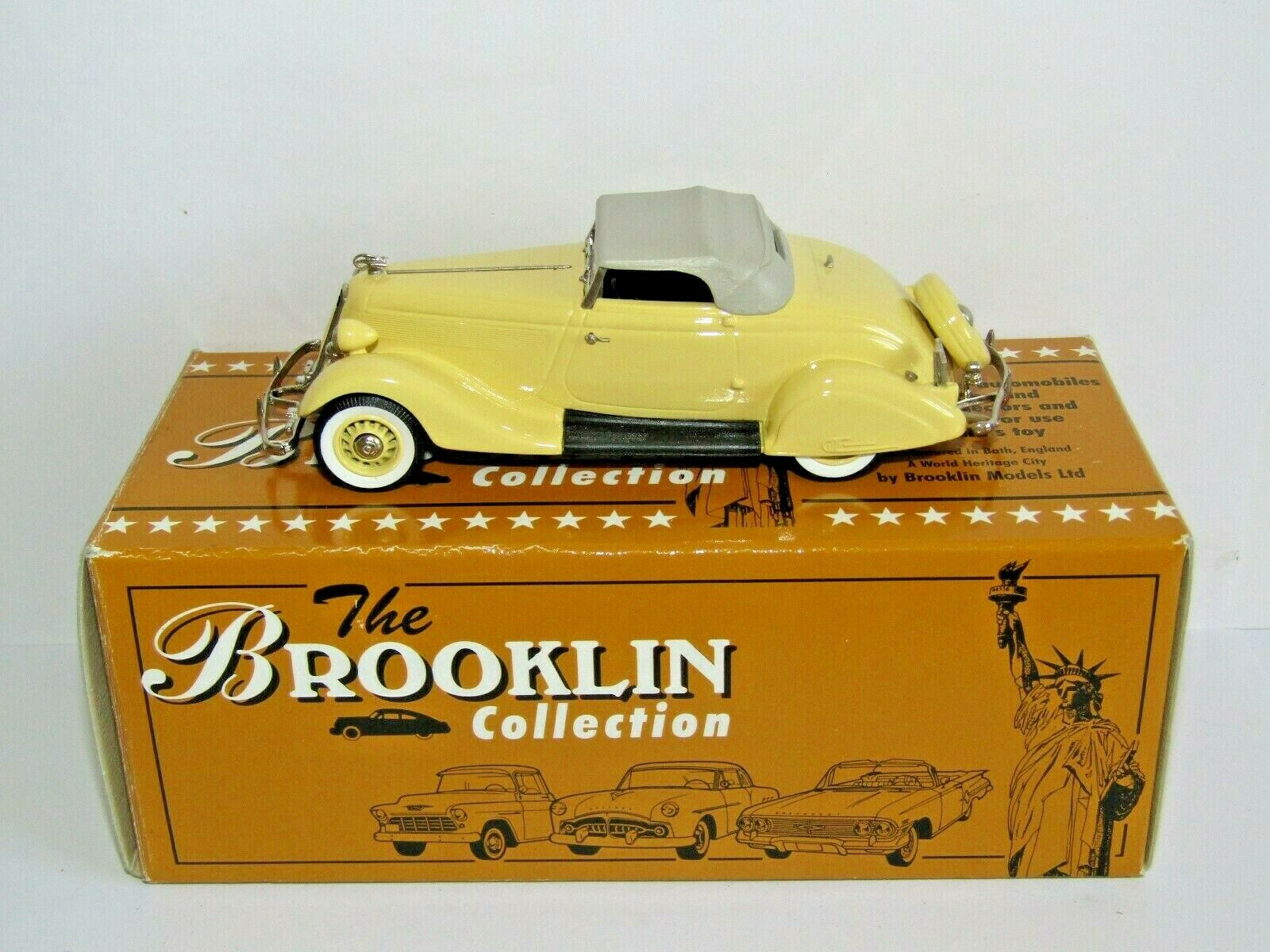 BROOKLIN models 1935 Studebaker Commander Roadster Top Giallo fino 1 43 BRK93