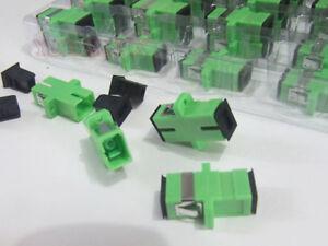 200pc-SC-APC-Fiber-Optic-Adapter-Flange-Coupler-Connector-head-fiber-Accessories