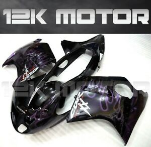 HONDA-CBR1100XX-CBR-1100-BLACKBIRD-1997-2007-Fairing-Set-Fairing-Kit-Black-18