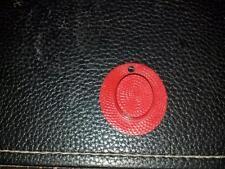 Vintage Cracker Jack Straw Hat Charm. Red Plastic 1950s