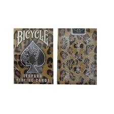 Rare Bicycle Leopard Deck Playing Cards - Skin Back Design Brown Tan Black White