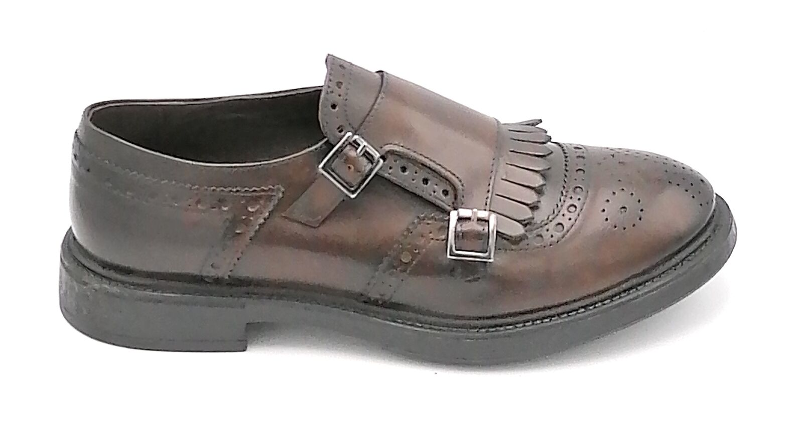 Tom Gout TG630 Shoe Leather Embroidery English Buckles Fringe 0-1