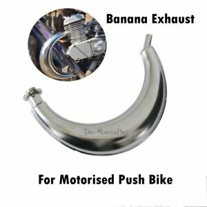 Details about Expansion Chamber Moon Style Exhaust Pipe Muffler for 66 70  80cc Bicycle Engine