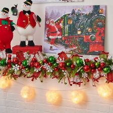"135/"" SNOWBALL LIGHTED GARLAND RAZ G3414475 CHRISTMAS Decoration TREE Mantle NEW"