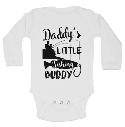 Cute Baby Bodysuits and Shirts Daddy/'s LITTLE Fishing BUDDY
