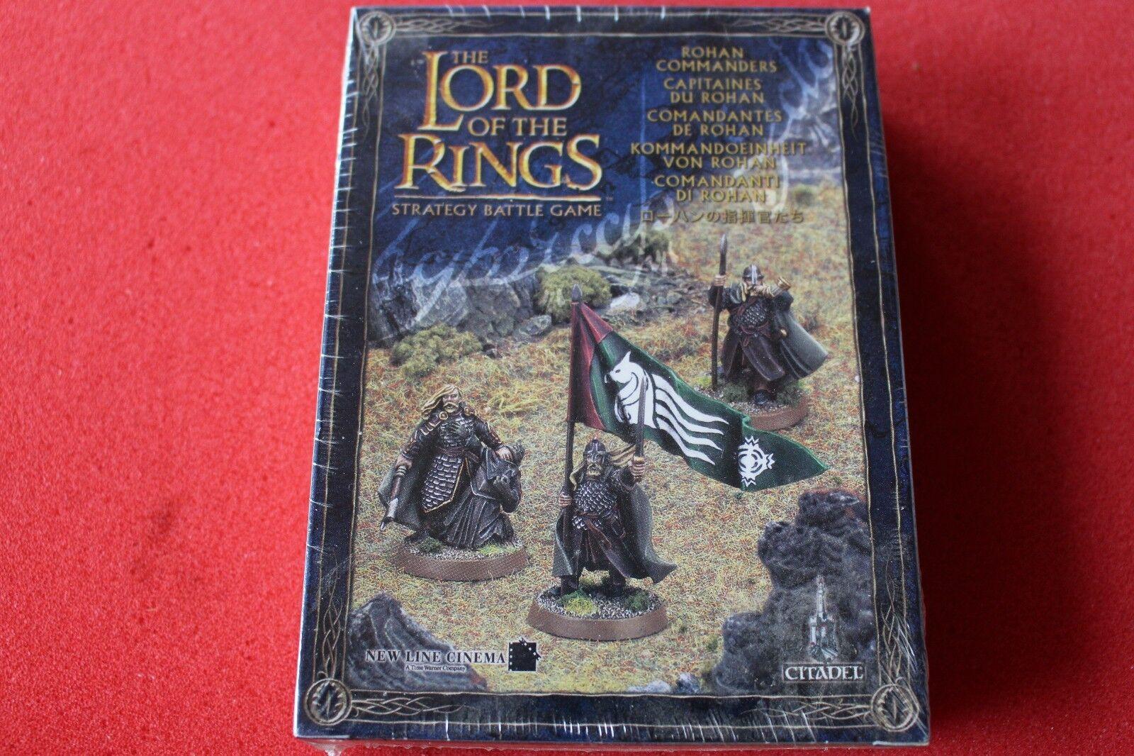 Games Workshop LoTR Rohan Commanders Lord of the Rings New BNIB 3 Metal Figures