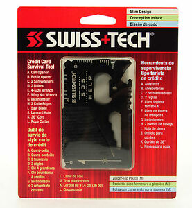 Image Is Loading Swiss Tech Stainless Steel Credit Card Survival Tool