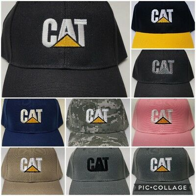 51e944f10a242 Details about CAT Embroidered Baseball Hat Cap Adjustable Caterpillar Heavy  Equipment