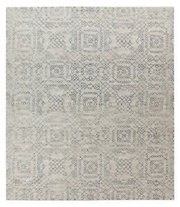 Antique-Hand-Made-Traditional-Agra-Beige-Contemporary-Oriental-Wool-Area-Rug