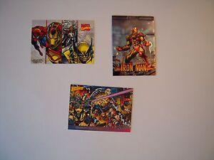 PROMO-COMICS-CARD-X-MEN-93-MARVEL-COMICS-95-IRON-MAN-CHROMIUM-97-TBE