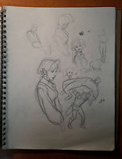 Adam Hughes sketch from his Sketch book 1992-1993, Valor #9 cover idea