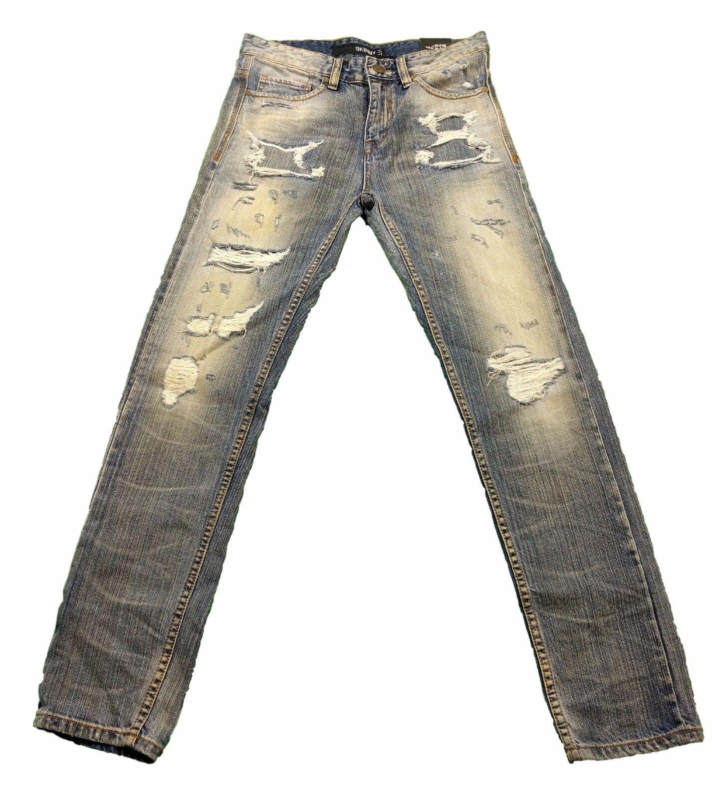 Rocawear Blak Skinny Fit Distressed Jeans in 30x30 MSRP