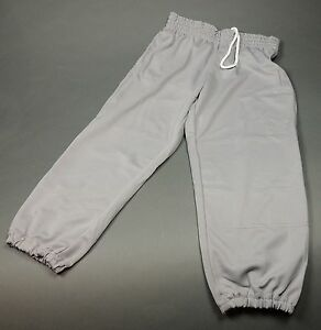 champro sports performance pull up youth baseball pants grey new