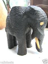 ELEPHANT EN EBENE / AFRIQUE ANNEES 50 / VOIR AUTRES VENTES ...CONGO .GABON....