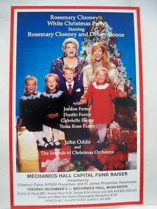 ROSEMARY-CLOONEY-039-S-WHITE-CHRISTMAS-PARTY-Herald-DEBBY-BOONE-Concert-Tour-MA-1989