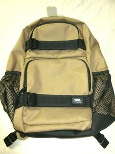 Vans Skates Pack 3-B Backpack Travel Bag Mocha Brown Black Straps Free Ship NWT