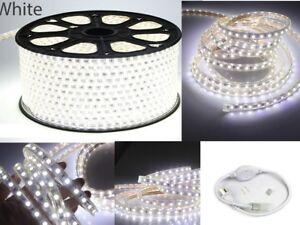 Blanco-5050-SMD-60-Tira-de-Luz-LED-En-Exterior-Hagalo-usted-mismo-longitud-10-039-150-039-KTV