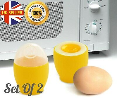 1 x Microwave Egg Poacher Saves Time Eggs Made Easy Shipping F0X4 No Free S8S8