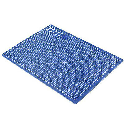 A4 CUTTING MAT PRINTED GRID LINES SCALE PLATE LEATHER PAPER BOARD RETRO