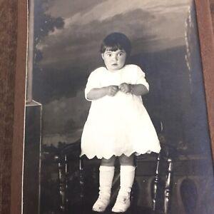 Antique Photo Little Girl Child Dress Whitework Edwardian Fashion Ida Mae Ponce