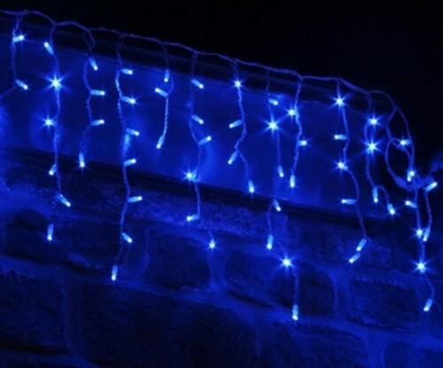 Outdoor 360 Led Supabright Blue Led Snowing Icicle Christmas Lights In