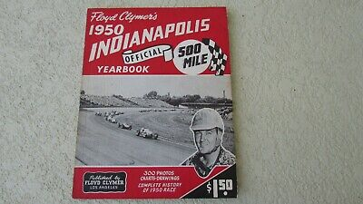 Compiacente 1950 Indianapolis Indy 500 Race History Yearbook By Clymer J.parsons Wins Offy