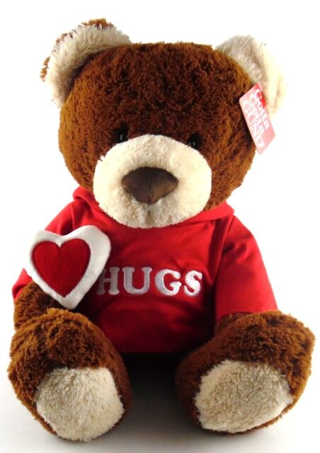 Gund Hugs Bear Valentine's Day 18 inch Red Hoodie New w/ Original Hang Tag Love