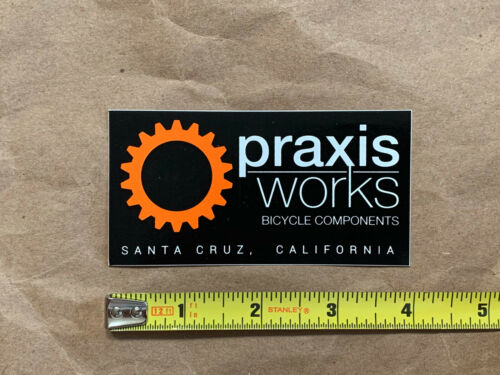 "Praxis Works Santa Cruz sticker decal genuine original 4/"" x 2/"" NEW"